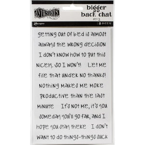 Dylusions bigger Backchat stickers - white (set #2)