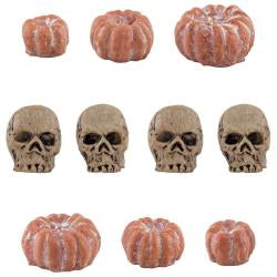 Tim Holtz - Idea-Ology Halloween: Mini skulls and pumpkins 10/pkg