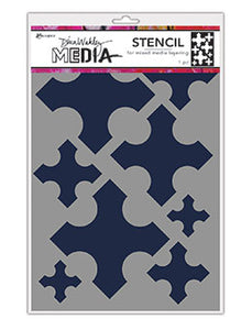 Dina Wakley Stencil - Large medieval crosses