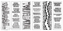 Dylusions colouring sheets - Borders and quotes