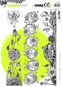 Carabelle cling stamp A4 - Wonderful flower strips