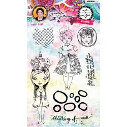 Art by Marlene signature collection stamp - Girlie Style