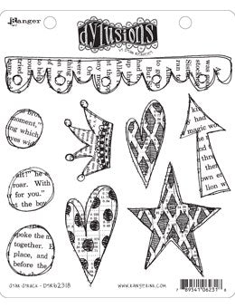 Dylusions Cling Stamp - Star struck