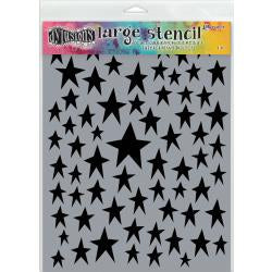 "Dyan Reaveley 9""x12"" stencil - Star struck"