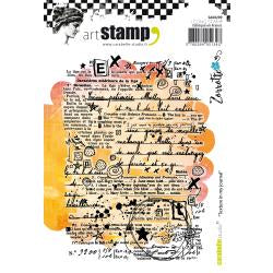 Carabelle cling stamp A6 - texture in my journal