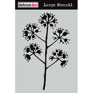 "Darkroom Door stencil - Blossum Large (9"" x 12"")"