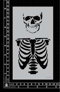 Kinder Kreations - Skeleton bust stencil
