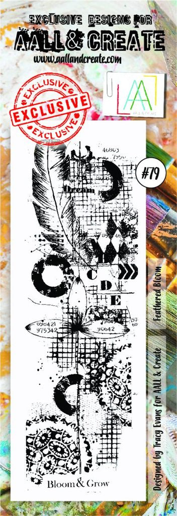 AALL&Create stamp set #79 - feather bloom