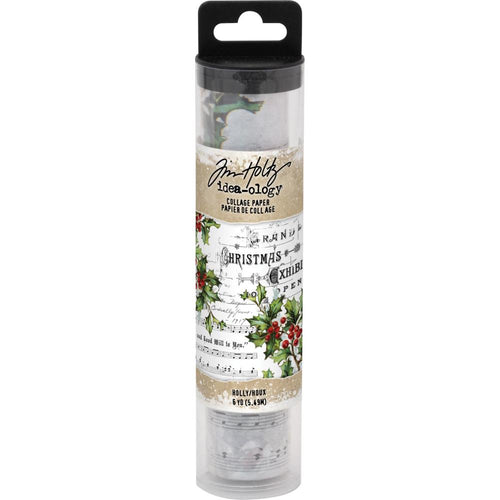 Tim Holtz Idea-Ology Christmas - Holly Collage Paper 6yds