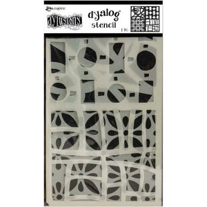 Dylusions Dyan Reaveley dyalog stencil - Doodle it too