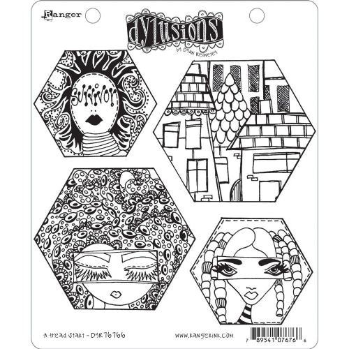 Dyan Reaveley Cling Stamp - A Head start