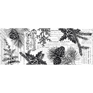 Tim Holtz Idea-Ology Christmas - Forest Collage Paper 6yds