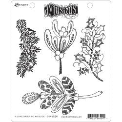 Dyan Reaveley Cling Stamp - Kiss me under the mistletoe