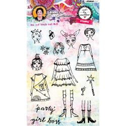 Art by Marlene signature collection stamp - Girl boss