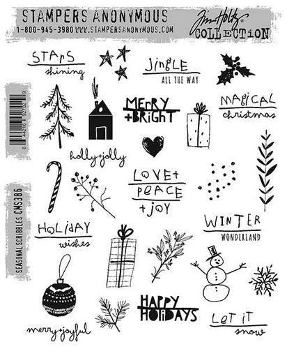 Tim Holtz Stampers Anonymous - Seasonal scribbles