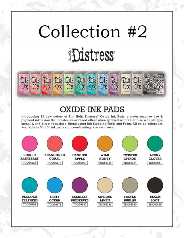 Tim Holtz distress oxides #2 individual colours