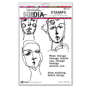 Dina Wakley cling stamp - Change