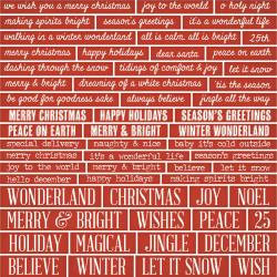 Tim Holtz idea-ology - Christmas  Chipboard quotes