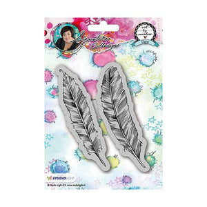 Art by Marlene signature collection stamp - Feathers