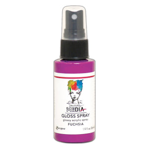 Dina Wakley Media gloss spray - Fuchsia