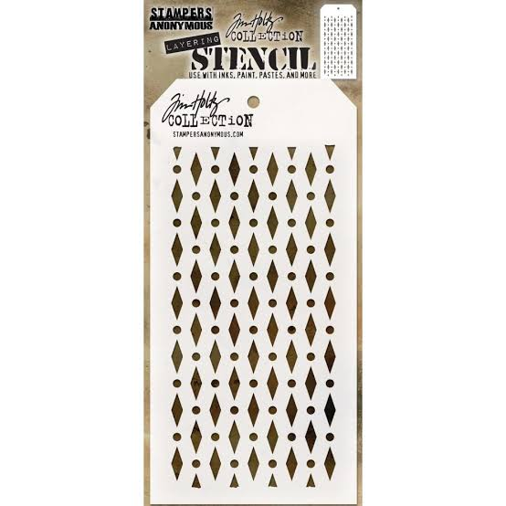 Tim Holtz layering stencil - Diamond Dot