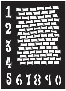"Dyan Reaveley 9""x12"" stencil - Staggered brickwork"