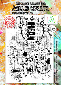 AALL&Create stamp set #55 - Layered grunge by Tracy Evans