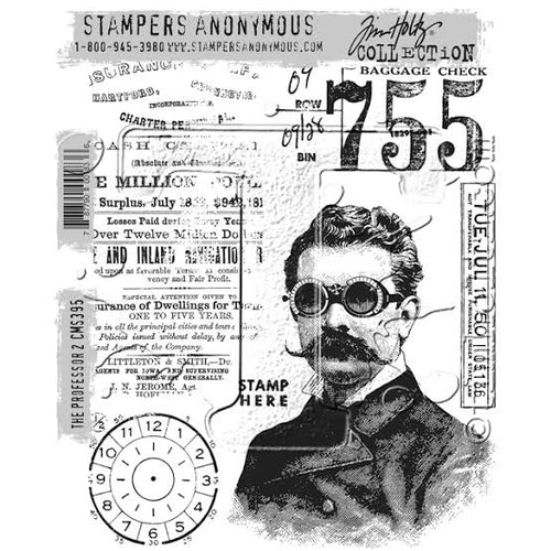 Tim Holtz Stampers anonymous - The professor 2