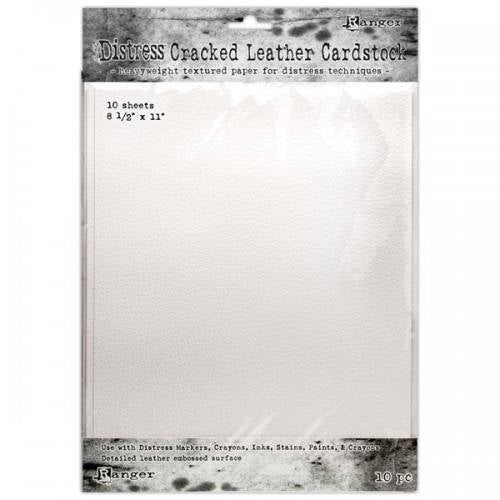 Tim Holtz Distress cracked leather cardstock 10 sheets