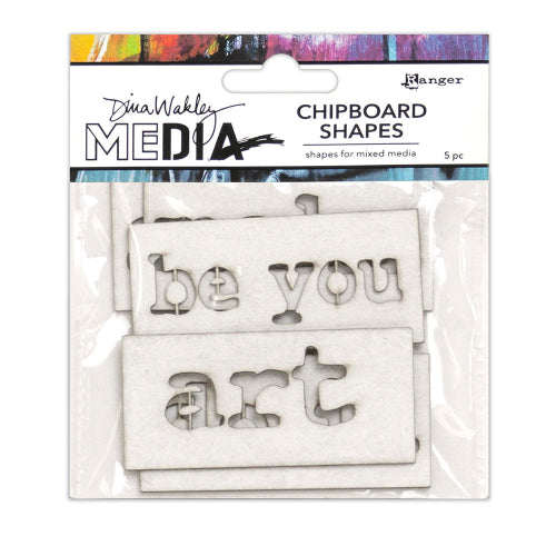 Dina Wakley media chipboard - Words