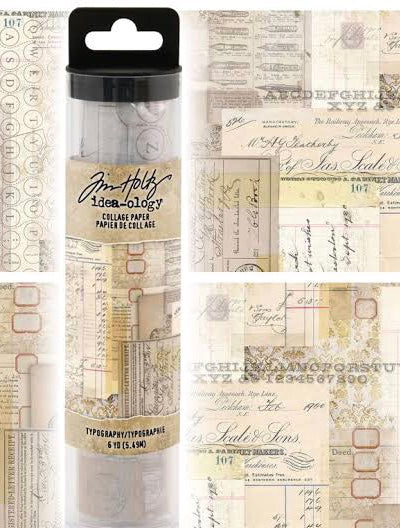 Tim Holtz Idea-Ology - Typography Collage Paper 6yds