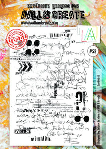 AALL&Create stamp set #58 - Scribble it