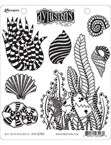 Dylusions Cling Stamp - She sells sea shells