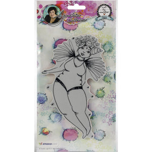 Art by Marlene signature collection stamp - Chubby chics cling stamp