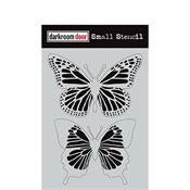 "Darkroom Door stencil - Butterflies Small (4.5"" x 6"")"