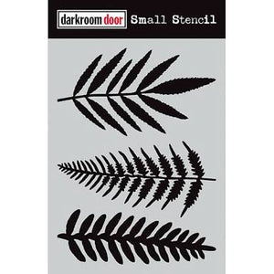 "Darkroom Door stencil - Ferns Small (4.5"" x 6"")"