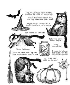 Tim Holtz Stampers anonymous - Snarky Cat Halloween