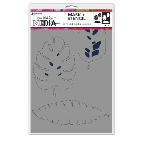 Dina Wakley Mask and stencil - Tropical masks