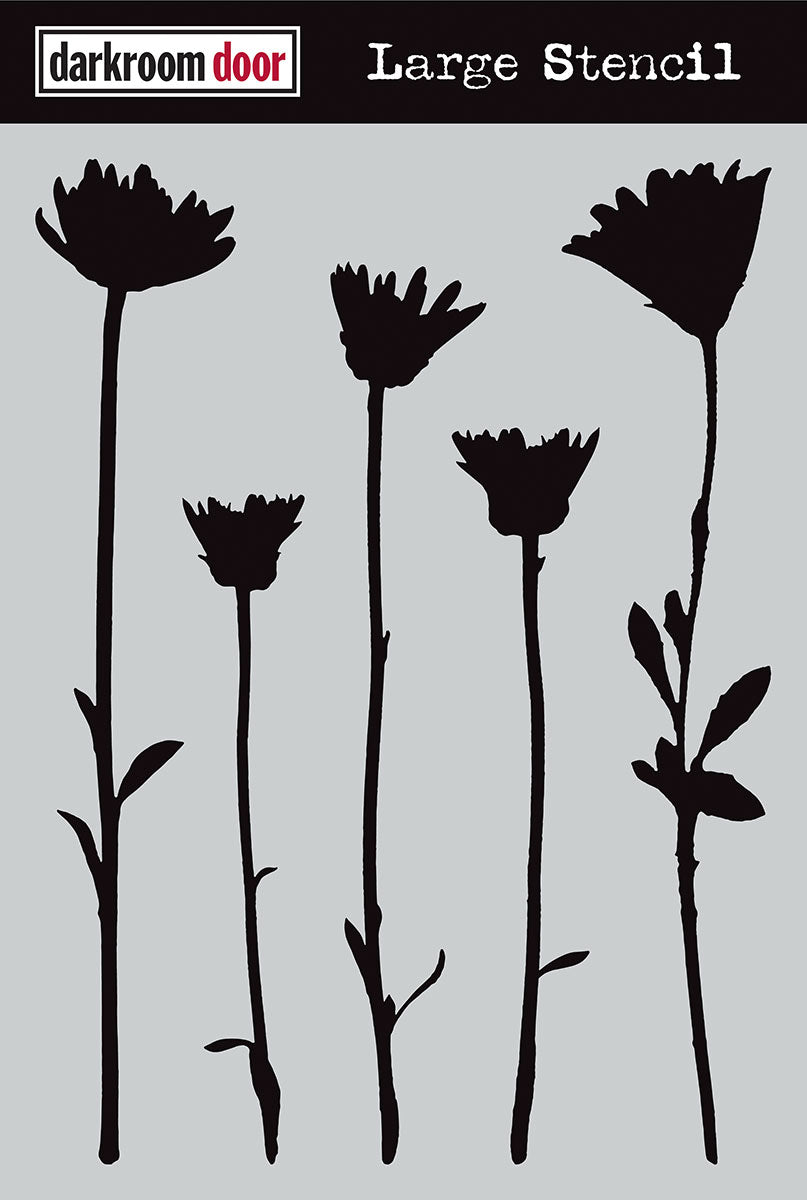 Darkroom Door stencil - Wildflowers Large (9