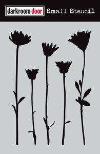 "Darkroom Door stencil - Wildflowers Small (4.5"" x 6"")"