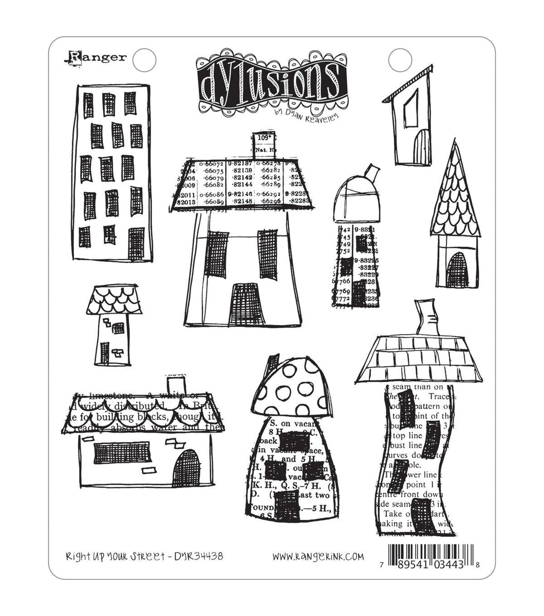 Dylusions Cling Stamp - Right up your street