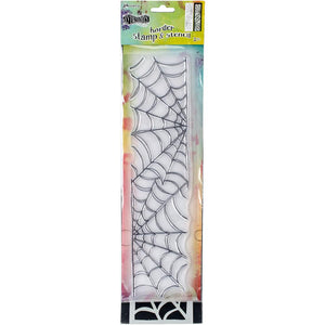"Dylusions stamp and stencil 12"" - Cobweb"