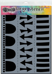 "Dyan Reaveley 9""x12"" stencil - Arrow border"