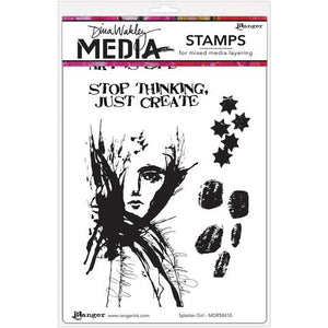 Dina Wakley cling stamp - Splatter Girl