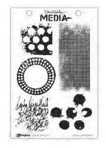Dina Wakley cling stamp - Textures