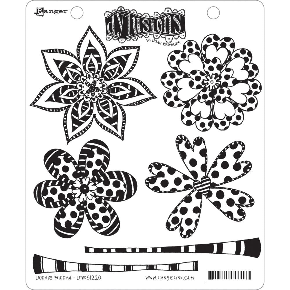 Dyan Reaveley Cling Stamp - Doodle Blooms