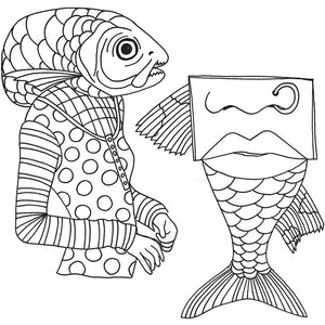 Dyan Reaveley Cling Stamp - Fish Face