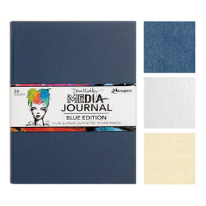 Dina Wakley Media Journal (8 x 10) - Blue Edition