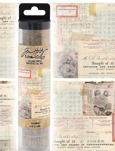 Tim Holtz Idea-Ology - Document Collage Paper 6yds