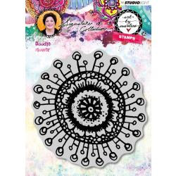 Art by Marlene signature collection stamp - Doodle flower